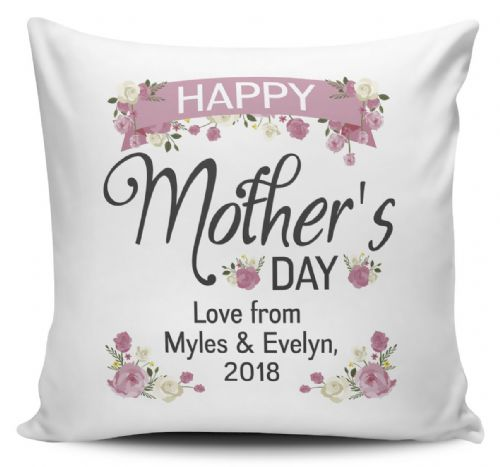 Personalised Happy Mother's Day Lovely Floral Cushion Cover